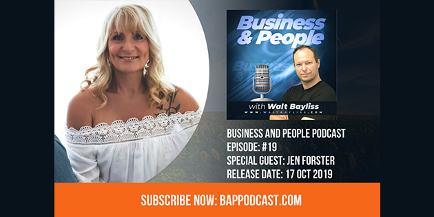 Business and People Podcast Episode 19 Jen Forster
